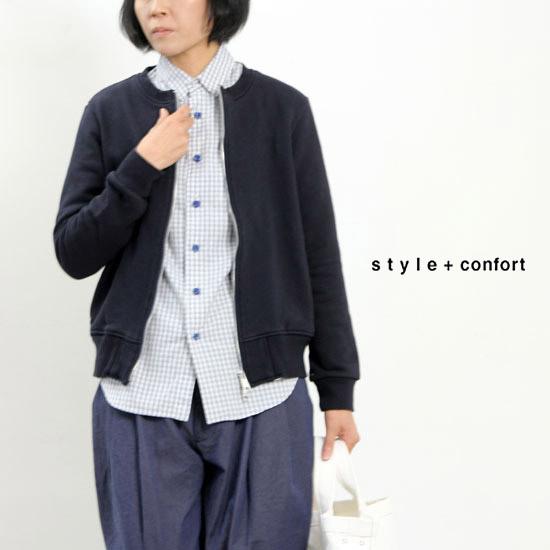 style + confort (スティールエコンフォール) 裏毛ジップブルゾン