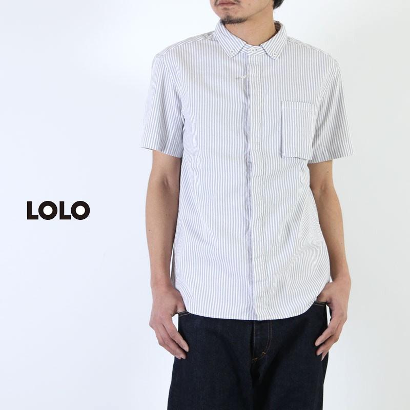 LOLO (ロロ) 今治タオル Wネーム 半袖比翼B.Dシャツ