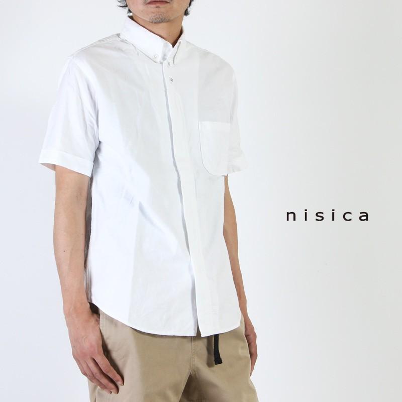 nisica (ニシカ) 半袖ボタンダウンシャツ