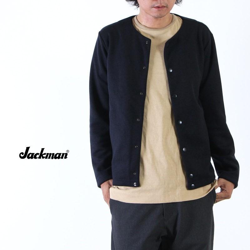 Jackman (ジャックマン) Jersey Collarless Jacket / ジャージーノーカラージャケット