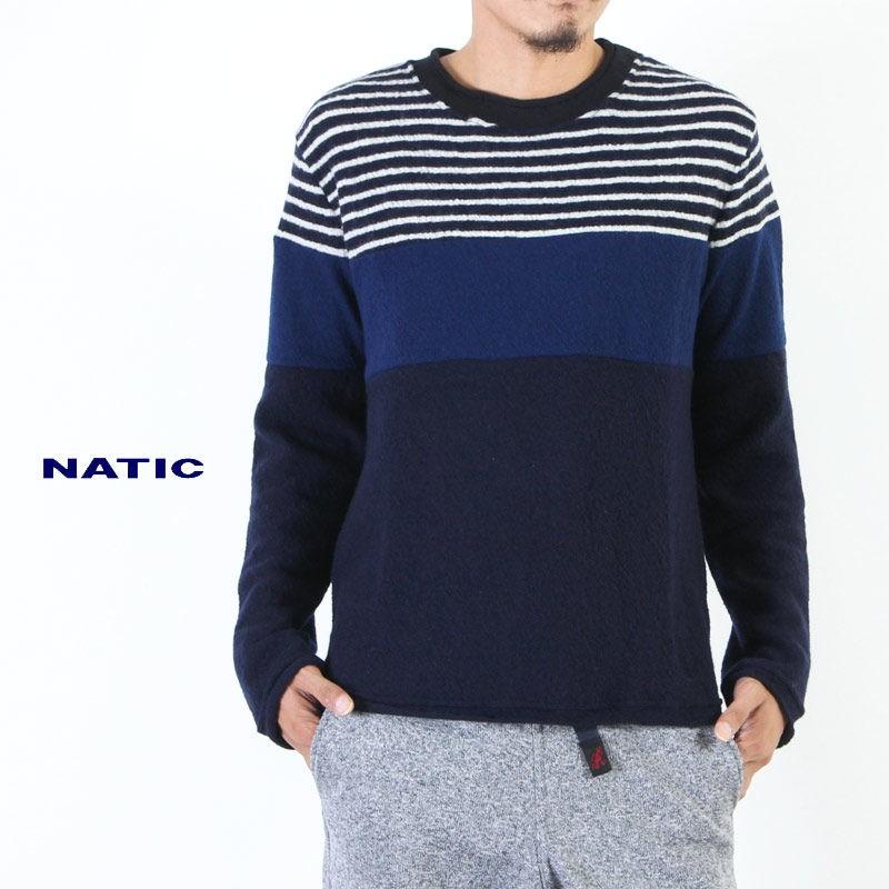 NATIC (ナティック) 圧縮ウールボーダー切替カットソー