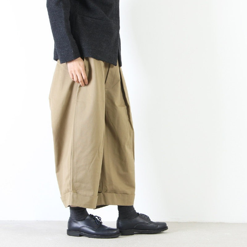 MidiUmi(ミディウミ) ワイドタック4/5レングスパンツ