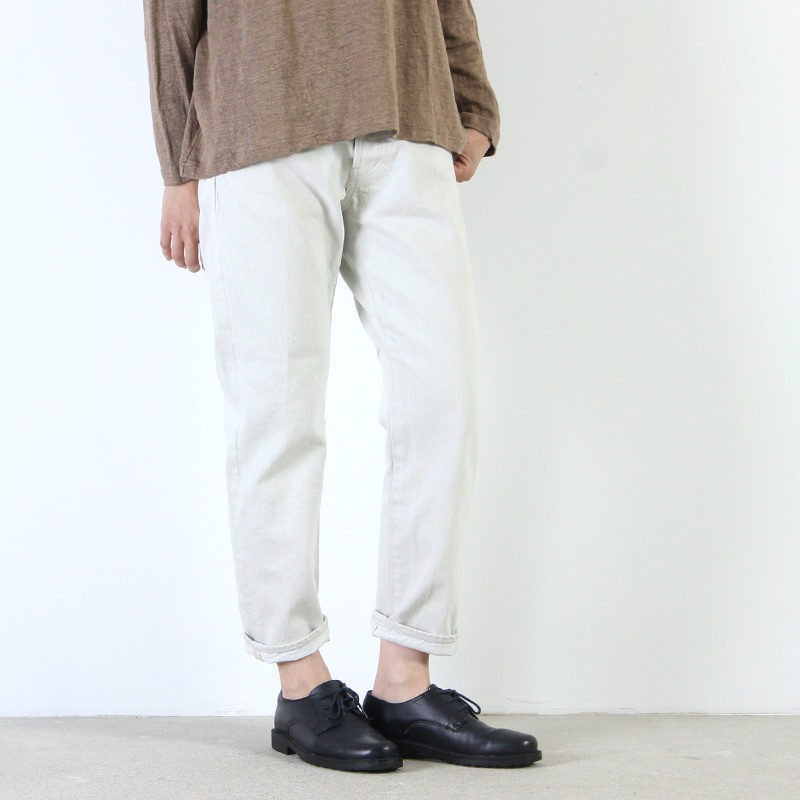 Ordinary Fits (オーディナリーフィッツ) 5POCKET ANKLE DENIM white one wash
